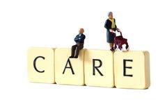 Starsi ludzie opieka b Fotografia Stock