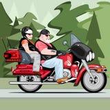 Starsi rowerów jeźdzowie royalty ilustracja