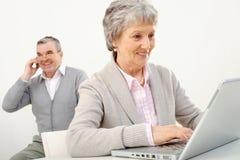 starsi ruchliwie ludzie Obraz Royalty Free