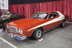 Starsky and hutch car. Picture of ford torino starsky and hutch movie car in display during the autorama montreal september 16-17 2017 Royalty Free Stock Photos