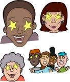 starstruck людей иллюстрация вектора