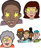 Starstruck People vector illustration