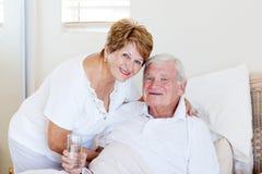 Starsza żona i mąż Fotografia Royalty Free