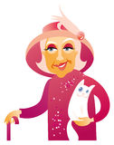 starsza dama Zdjęcia Stock