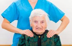Starsza domowa opieka zdjęcia royalty free