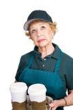 Starsza kobieta Barrista Zdjęcie Stock