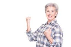 starsza kobieta czynna Obraz Royalty Free