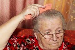 Starsza kobieta i grępla Zdjęcia Stock