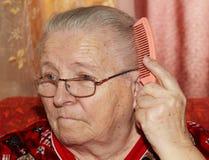 Starsza kobieta i grępla Obraz Stock
