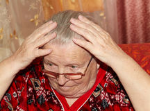 Starsza kobieta i grępla Zdjęcie Royalty Free