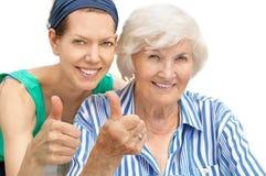 Starsza kobieta i wnuczka zdjęcia royalty free