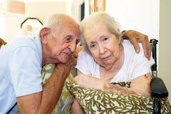 starsza kobieta ogniska oko fotografia royalty free