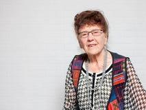 starsza kobieta ogniska oko Fotografia Stock