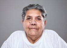 starsza kobieta portret zdjęcie stock