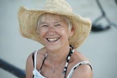 starsza kobieta szczęśliwa obraz royalty free