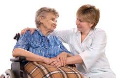 starsza kobieta wózek Obrazy Royalty Free