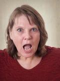 Starsza kobieta w szoku Fotografia Stock