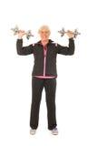 Starsza kobiety sprawność fizyczna fotografia stock