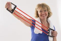 Starsza kobiety sprawność fizyczna Obrazy Royalty Free