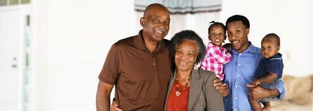 Starsza para małżeńska Z rodziną Obraz Royalty Free
