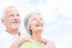 Starsza para w miłości obraz royalty free