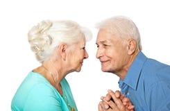 Starsza para w miłości Obrazy Stock