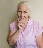 starsza rozważna kobieta Obrazy Royalty Free
