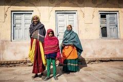 Starsze Indiańskie kobiety w tradycyjnym odziewają Obrazy Stock