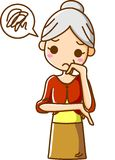Starsze kobiety cierpią Zdjęcia Stock