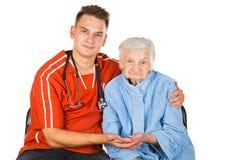 Starsze osoby dbają w domu Fotografia Royalty Free