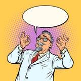 Starsze osoby fabrykują naukowa uśmiechu ok ok gest ilustracji