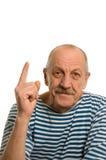 starsze osoby odizolowywać obsługują biel obraz stock
