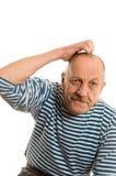 starsze osoby odizolowywać obsługują biel fotografia royalty free