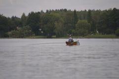 Starszego mężczyzna łapania ryba Polska Zdjęcie Stock