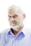 Starszego mężczyzna portreta nieufność zdjęcie royalty free