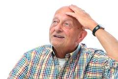 Starszego mężczyzna przyglądający up Fotografia Royalty Free