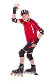 Starszego mężczyzna starszy łyżwiarstwo Fotografia Royalty Free