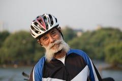 Starszego Obywatela cyklista fotografia royalty free