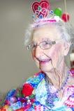 Starszej damy koronowana królowa obrazy royalty free