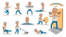 starszej osoby ćwiczenie ilustracja wektor