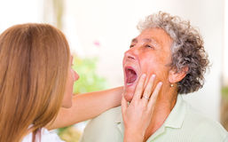 Starszej osoby opieka zdjęcie stock