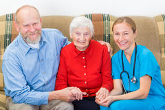 Starszej osoby opieka Zdjęcia Royalty Free