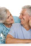 Starszej osoby szczęśliwa para obraz stock