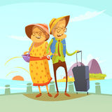 Starszej pary Podróżna ilustracja Obrazy Stock