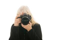 Starszy żeński fotograf zdjęcia royalty free