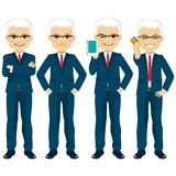 Starszy biznesmena set royalty ilustracja