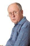 starszy człowiek łysy szkła Zdjęcia Royalty Free