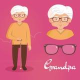 starszy człowiek dziadkowie Zdjęcie Stock