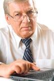 starszy człowiek gospodarczej stałe Zdjęcia Stock