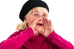 Starszy damy krzyczeć Obrazy Stock